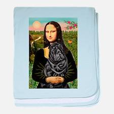 Mona's Black Shar Pei baby blanket