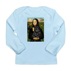 Mona's Black Shar Pei Long Sleeve Infant T-Shirt