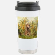 Palms/Cocker Spaniel (brown) Travel Mug