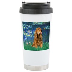 Lilies (5)/Cocker (br) Travel Mug