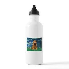 Lilies (5)/Cocker (br) Water Bottle
