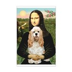 Mona Lisa / Cocker Spaniel Mini Poster Print