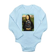 Mona's Black Cocker Spaniel Long Sleeve Infant Bod