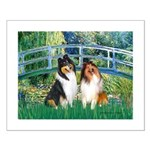 Bridge / Two Collies Small Poster