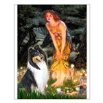 Midsummer's Eve / Collie (tri) Small Poster