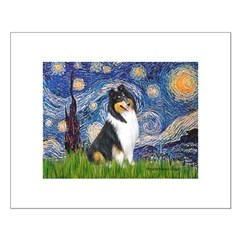 Starry Night / Collie (tri) Posters