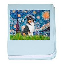 Starry Night / Collie (tri) baby blanket
