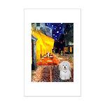 Cafe with Coton de Tulear Mini Poster Print