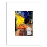 Cafe with Coton de Tulear Small Poster