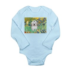 Irises / Coton Long Sleeve Infant Bodysuit