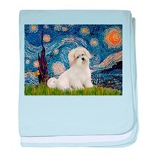 Starry / Coton de Tulear (#7) baby blanket