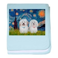 Starry / Coton Pair baby blanket