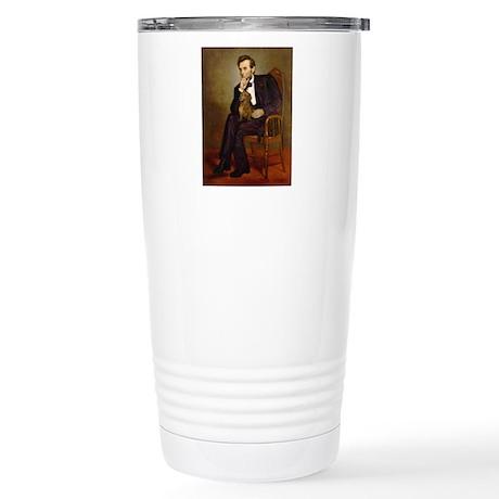 Lincoln's Dachshund Stainless Steel Travel Mug