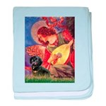 Mandolin Angel & Doxie (BT) baby blanket
