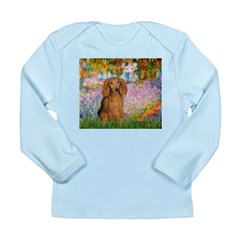 Garden -Dachshund (LH-Sable) Long Sleeve Infant T-