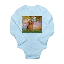 Garden -Dachshund (LH-Sable) Long Sleeve Infant Bo