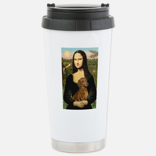 Mona's Dachshund Stainless Steel Travel Mug