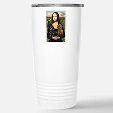 Mona Lisa's Dachshunds Stainless Steel Travel Mug