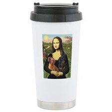 Mona Lisa's Dachshunds Travel Mug
