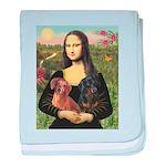 Mona Lisa's Dachshunds baby blanket