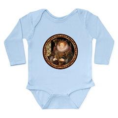 Queen / Dachshund #1 Long Sleeve Infant Bodysuit