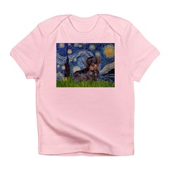 Starry Night Dachshund (Wire) Infant T-Shirt