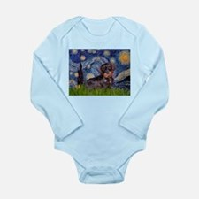 Starry Night Dachshund (Wire) Long Sleeve Infant B