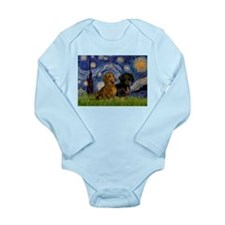Starry Night Doxie Pair Long Sleeve Infant Bodysui