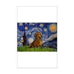 Starry / Dachshund Posters
