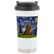 Starry / Dachshund Travel Mug