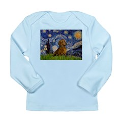 Starry / Dachshund Long Sleeve Infant T-Shirt