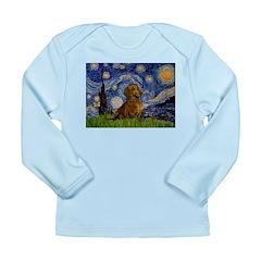 Starry / Dachshund Long Sleeve Infant T-Shirt