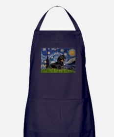 Starry Night Dachshund Apron (dark)