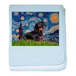 Starry Night Dachshund baby blanket