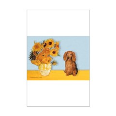 Sunflowers - Doxie (LH,S) Posters