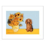 Sunflowers - Doxie (LH,S) Small Poster