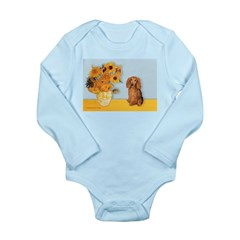Sunflowers - Doxie (LH,S) Long Sleeve Infant Bodys