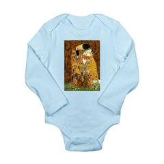 The Kiss/Two Dachshunds Long Sleeve Infant Bodysui