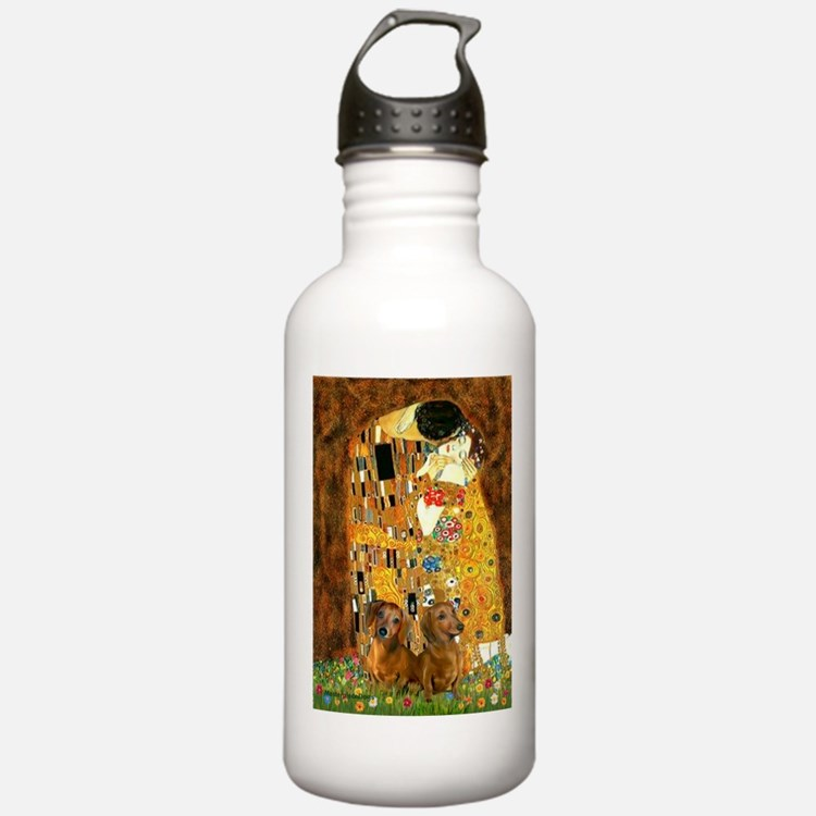 The Kiss/Two Dachshunds Water Bottle