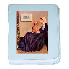 Whistler's /Dachshund(LH-Sabl) baby blanket