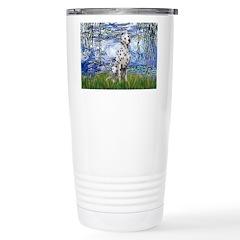Lilies / Dalmatian #1 Travel Mug