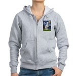 Starry / Dalmatian #1 Women's Zip Hoodie