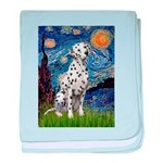 Starry / Dalmatian #1 baby blanket