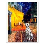 Cafe / Dalmatian #1 Small Poster