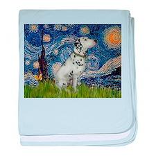 Starry Night / Dalmation baby blanket