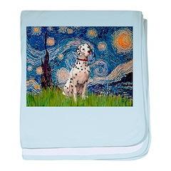 Starry /Dalmatian baby blanket