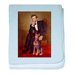 Lincoln's Red Doberman baby blanket