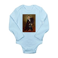 Lincoln's Doberman Long Sleeve Infant Bodysuit