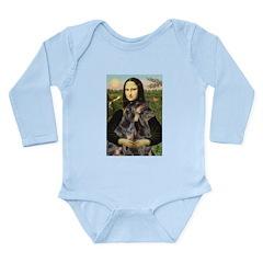 Mona's 2 Dobies Long Sleeve Infant Bodysuit