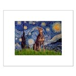 Starry / Red Doberman Small Poster